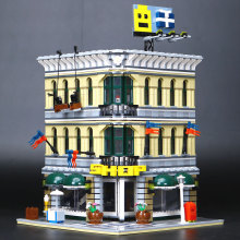 LEPIN 15005 223City Grand Emporium Model Building Blocks Funny Educational Lovely Gifts Kits Brick Toys Compatible 10211 - blocls factory Store store