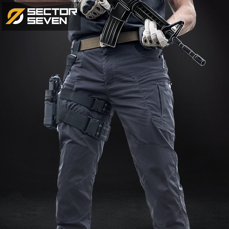 Mens Trousers Active-Pants Game Military Army Sector Seven Waterproof IX8 Silm War title=