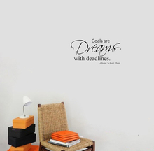 Goals are Dreams with Deadlines wall decals vinyl stickers home decor living room decoration bedroom wallpaper murals
