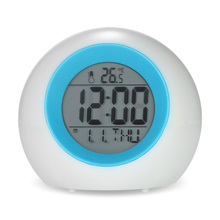 Alarm Clock Natural Sounds Multifunctional Digital Clock with Large Screen Display Time Temperature Calendar Music Backlight(China)