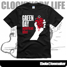 American Idiot green day Boulevard of Broken Dreams Holiday Jesus of Suburbia couple clothes man cotton short-sleeve T-shirt