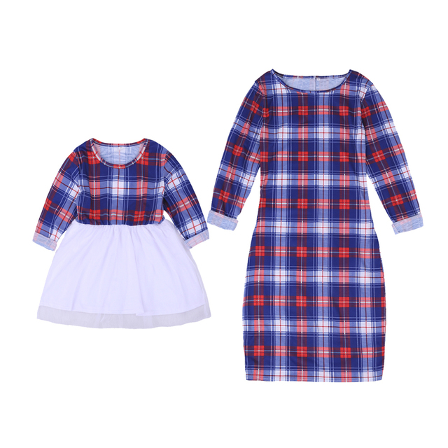 Family Colorful Matching Clothing Set for Mother and Daughter