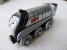 KK01--Geniune Thomas & Friends Wooden Magnetic Train Spencer Loose New