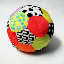 My first Soccer Ball Coloured Soft Plush Baby Rattles Sound Mobiles Clambing Toys Infant bebe Toys Gift Free Shipping