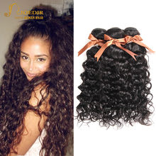Joedir Human Hair Brazilian Water Wave 3 4 Bundles Deal 100% Human Hair Weave Bundles Non Remy Hair Extensions Wet And Wavy Hair(China)