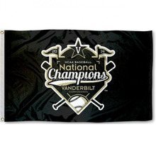 2 Color Vanderbilt Commodores World Series Champs American Outdoor Indoor Football College Flag 3X5 Custom USA Any Hockey Flag(China)
