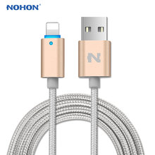 NOHON For Apple USB Cable 8Pin Fast Charging LED Light Cable For iPhone 8 7 6 6S Plus 5 5S 5C iOS 8 9 10 USB Data Cables Wire(China)