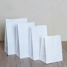 13*8*24cm Kraft Paper Bags White Favor Gift Storage Packing Bag Bread Dessert Cookie Hamburger Sandwich Snack Packaging Pouch