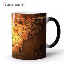 Transhome High Quality Color Changing Mug 350ml Lord Of The Rings Ceramic Heat Sensitive Tea Coffee Mug For Birthday Gift Travel