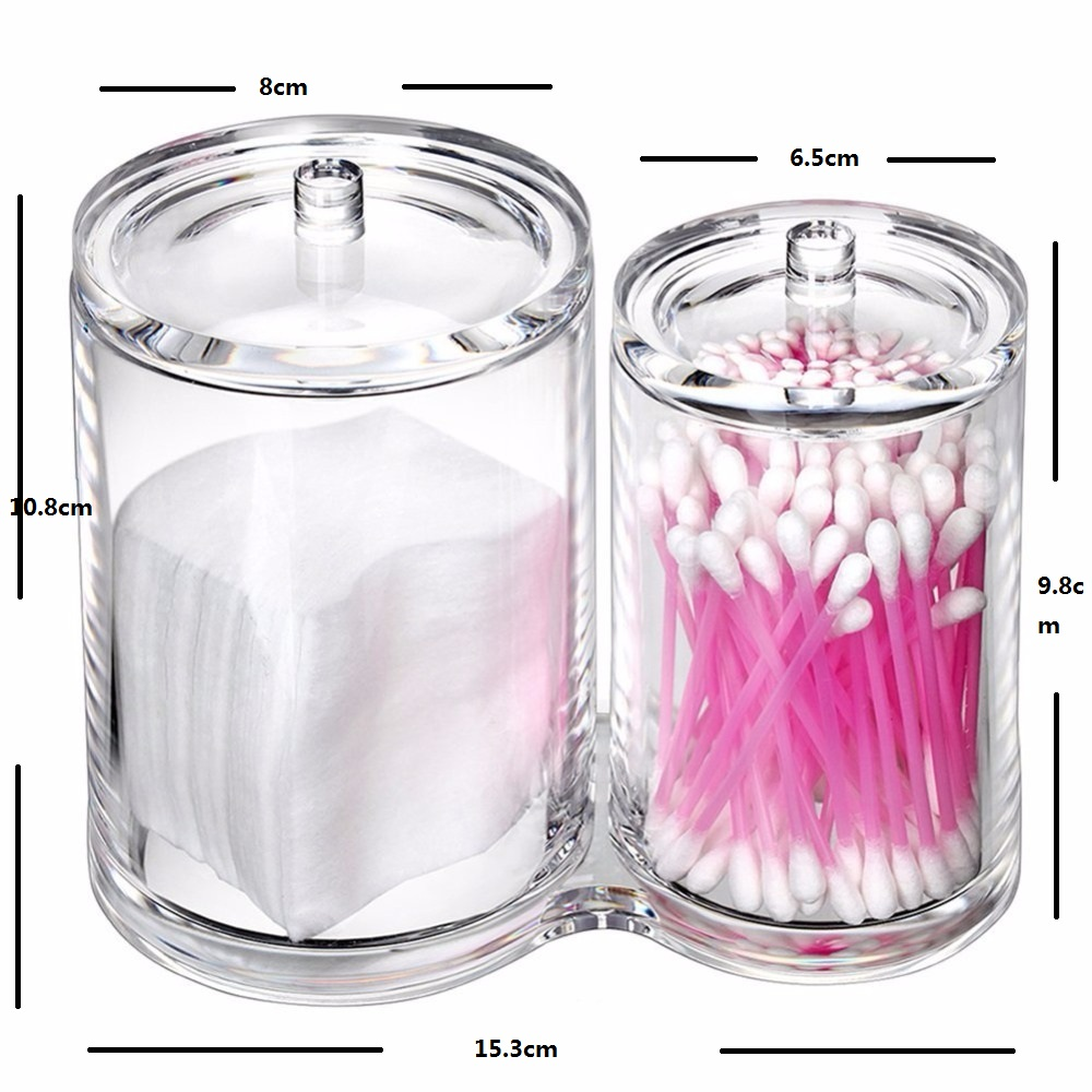 Premium-Quality-Acrylic-Clear-Cotton-Ball-and-Swab-Holder-Organizer-Cosmetic-brush-Holder-Round-Container-Makeup (1)