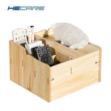 HECARE Wiping Wet Tissue Box with Container DIY Napkin Case Wood Wooden Tissue Box Cover Wet Wipes Box Vochtige Doekjes Houder(China)