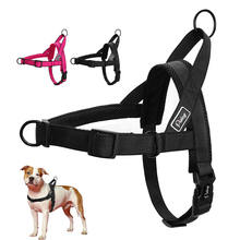 No Pull Dog Harness Quick Fit Nylon Dogs Harnesses Soft Mesh Padded Pet Vest Strap Walk Harnesses For Small Medium Large Dogs(China)