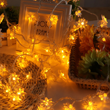 5M 40 Bulbs Fairy Garlands Lotus LED String Lights Christmas Holiday Wedding Party Lighting Guirlande Lamp Fixtures Garden Decor