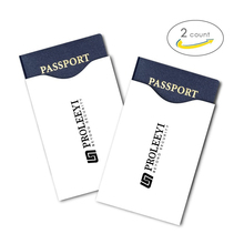 2 Pcs Anti Scan RFID Blocking Sleeves Passport Protection Aluminum Wallet Card Holder Case Secure Contactless Debit IC ID Card