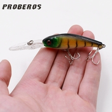 1Pcs Artificial Fish Lures Reflective 3D Eyes Hard Wobblers Shone Trolls Vibrator Baits For Winter Ice Lakes Fishing Gear Decoy