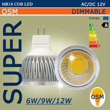 New High MR16 GU5.3 220V 12V  6w 9w 12w Dimmable Led Cob Spotlight Warm Cool White MR 16 12V Bulb Lamp GU 5.3 110V Power Lampada