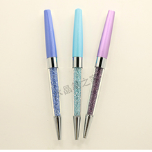 1PCS/LOT Rhinestone pen crystal diamond  metal ballpoint advertising pen