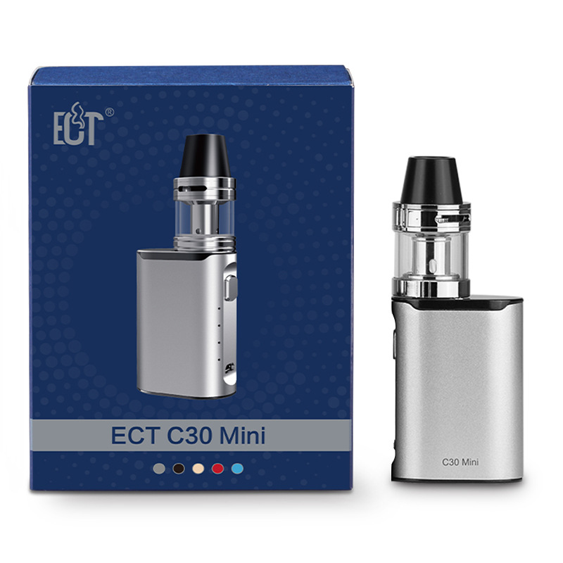 Original electronic cigarette box mod ECT C30 mini battery with Kenjoy Met Atomizer 2ml ect c30mini 30w vaporizer vape mod kit