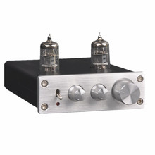6J1 Tube Music Fax Circuit Design Front Signal Buffer Amplifier Treble Bass Control the tone with Power Adapter Silver Black
