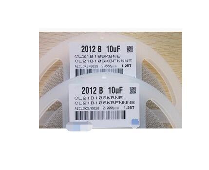 CL21B106KOQNNNE   0805  106K   X7R  16V   SMD  10UF    2000PCS<br>