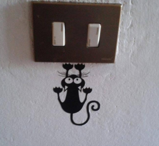 Creative Cat Hanging On Light Switch Sticker Wall Decal Creative Cat Hanging On Light Switch Sticker Wall Decal HTB1fQ1 SpXXXXa