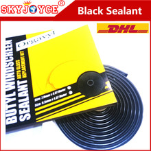 10 X Car Headlight sealant temperature silicone black butyl rubber sealant glue tape for headlight HID LED car styling accessory(China)