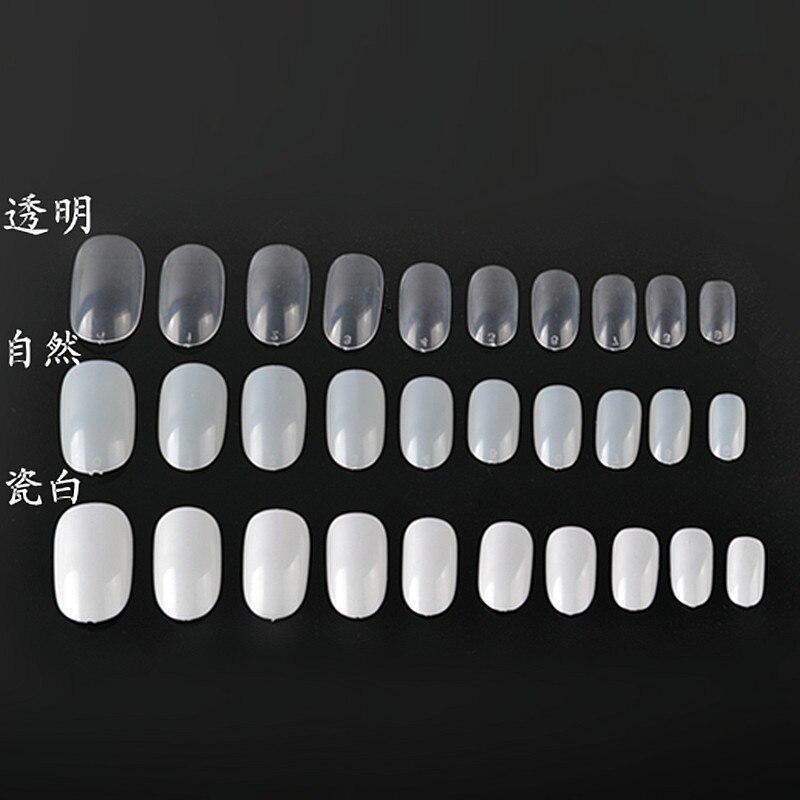 Foreign trade selling a total of20 pcs / Bag pieces of natural color fake nail nail plastic nail factoryEC3
