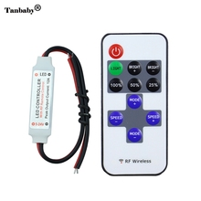 DC5-24V wireless mini led controller dimmer 11key RF remote control For 3528 5050 Single Color LED Light Strip free shipping(China)
