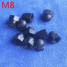 M8 1 pcs Black Nylon acorn nuts /8mm Protection Dome Head hex Cover Nuts/Plastic hexagon Cap Nut brand new high-quality