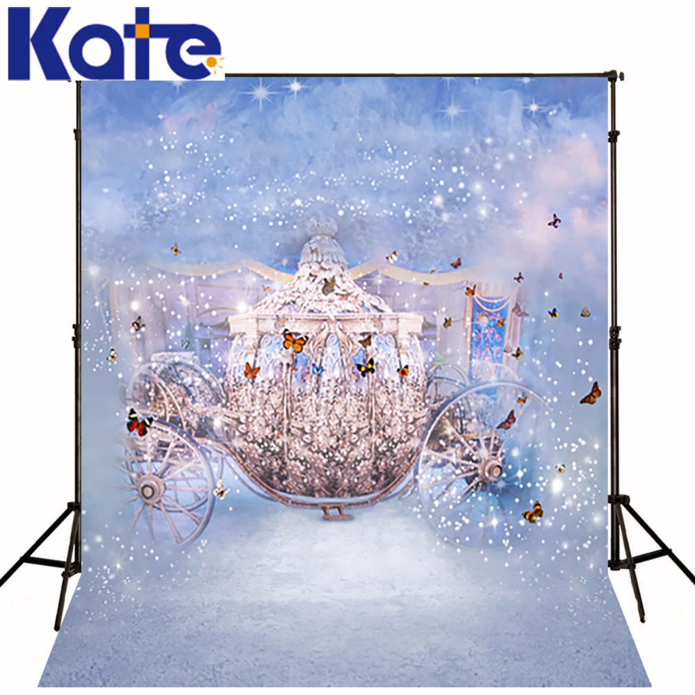 6.5X10Ft(200X300Cm) Kate Background Fantasy Thick Cloth Backdrop Baby CinderellaS Carriage Butterfly Dream Studio Photography<br><br>Aliexpress