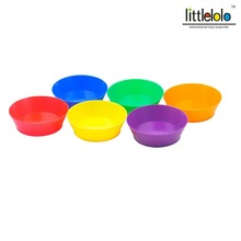 baby educational toy color plate for classify different color and contain small figures toys 6pcs/set(China)