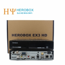 Genuine HEROBOX EX3 HD Satellite Receiver With WiFi DVB-S2+DVB-T2+DVB-C Tuner 752MHZ MIPS  Support wifi Linux Enigma2 Free Ship