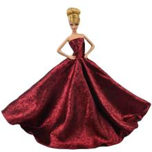 LeadingStar Super luxurious Red Princess Party dress for Barbie Doll Wedding Gown Accessories for Barbie dolls Baby Gift(China)
