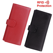 fancytrader best rfid blocking wallet trifold scan proof security credit card protect wallet money clip for women(China)