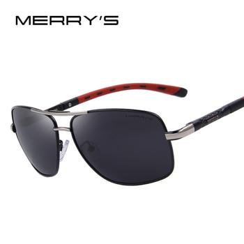 Merry's emi defendendo revestimento de lente polarizada óculos de sol dos homens de alumínio clássico marca driving shades s'8714