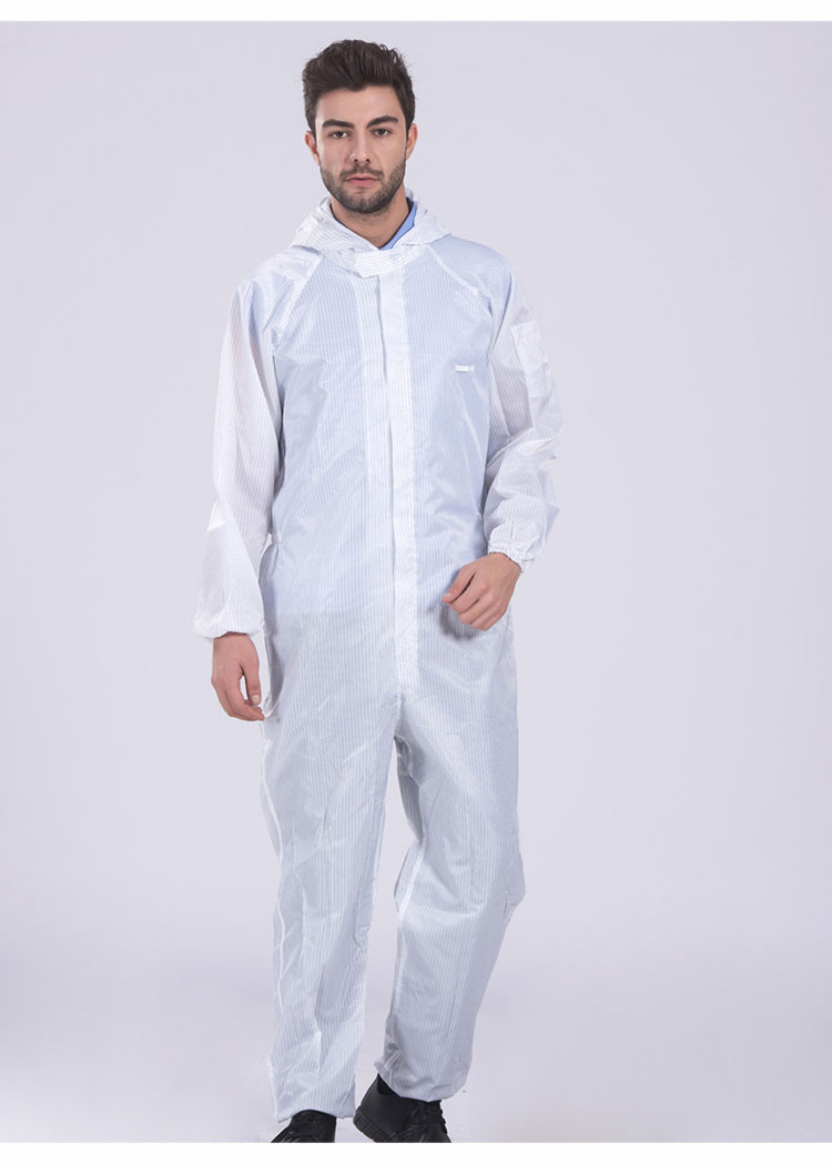 Men Anti-static Coverall clothing Hooded  Cleanroom Garments Protective Work clothing Dust-proof Paint Factory Working uniforms (8)
