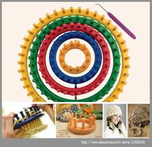 PINJEAS PINJEAS 1 Set 4 Size Plastic Round Circle Creative scarf hat sweater DIY Hat Yarn Knitter Knifty Knitting Knit Loom