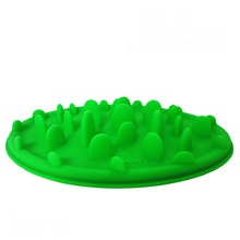 1Pc Pet Feeder Dog Cat Silicone Slow Feed Bowl Anti-choke Pet Cat Feeder Travel Pet Bowl Dish Portable Pet Feeding Supplies