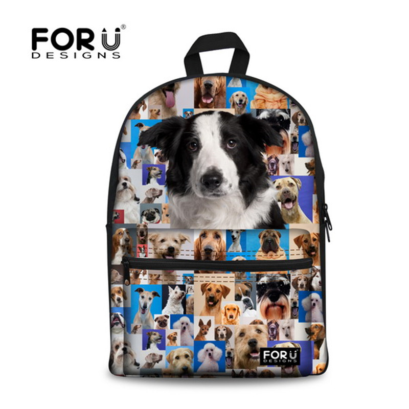 FORUDESIGNS Trendy Teenager Boys Girls College Student School Backpacks 3D Cute Animal Dog Face Backpack Mens Travel Backpacks<br><br>Aliexpress