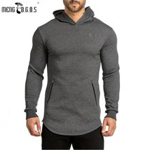 2017 gyms Hoodie Clothes Bodybuilding Sweatshirt Warm Clothing Shark zipper conventional Cotton Sweatshirts Cheap Pullover - Carl's flagship store