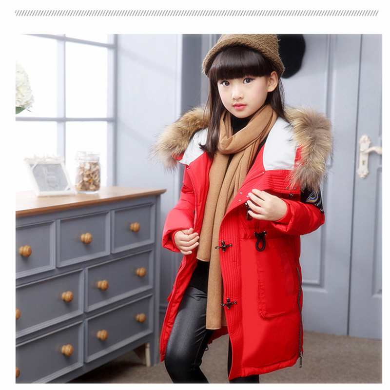 Brand Fashion Girls Down Jackets Outerwear New Boys Winter Down Coats Thick Duck Down Warm Daby Girl Jackets -30degree<br>