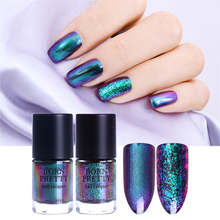 BORN PRETTY Chameleon Nail Polish 9ml Gold Violet Galaxy Glitter Sunset Glow Sequins Nail Lacquer Varnish (Black Base Needed)(China)