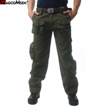 MAGCOMSEN Men Pants Cotton Casual Camouflage Military Pants Men Tactical Cargo Pants Long Trousers Men Brand Clothing AG-MT-04(China)