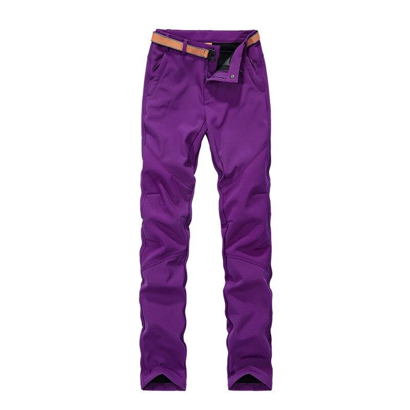 Women Fleece Pants Autumn Winter Warm Trousers Lady Waterproof Outdoor Sports Bottoms female Hiking thermal camping breeches<br><br>Aliexpress