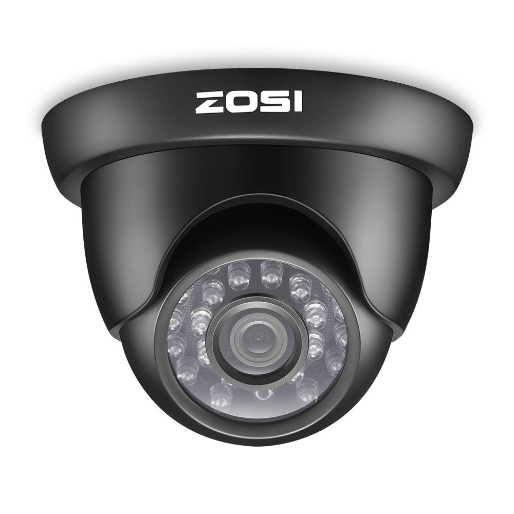 ZOSI 720P TVI Outdoor Indoor Video Surveillance Dome Camera HD 1280 TVL Weatherproof Home CCTV Security Camera System<br>