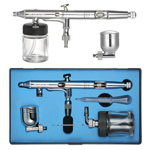 Dual-Action Airbrush compressor Kit sandblaster Mini Spray Gun Air Control Air-Brush + Eyedropper 0.25mm 7cc & 22cc for art(China)