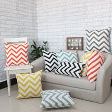 Sofa Cushion Covers Seat Pillow Cases Geometric Wavy Print Creative Striped Pillow Cover Home Decoration 4 Size For Choose V30(China)