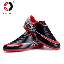 LEOCI All Seasons Unisex Men's Boys Girls TF Soccer Shoes Turf Football Shoes Soccer Boots Botines De Futbol Size 33-44(China)