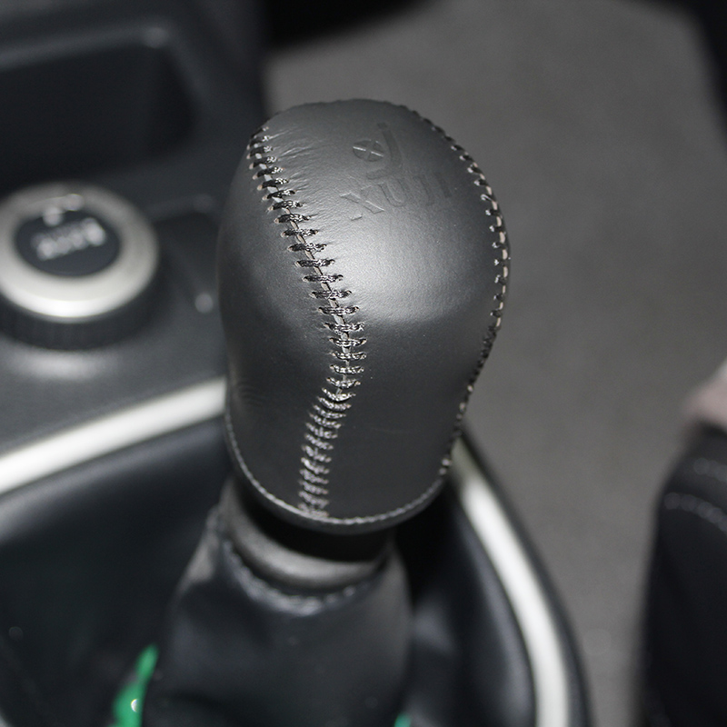 uxcell Black Faux Leather Car Manual Gear Shift Knob Boot Dust Cover for Ford Focus