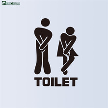 Free Shipping New Hot Explosion Models Toilet Toilet Wall Stickers Wholesale Waterproof Can Be Removed